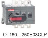 Рубильник реверсивный OT160E03CLP (с ручкой) переключение без разрыва тока