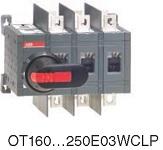 Рубильник реверсивный OT160E03WCLP (с ручкой) переключение без разрыва тока