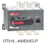 Рубильник реверсивный OT315E03CLP (с ручкой) переключение без разрыва тока