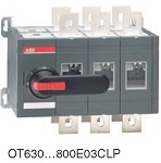 Реверсивный рубильник OT630E03CLP с перекрытием контактов